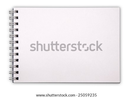 notepad isolated on white background with clipping path - stock photo