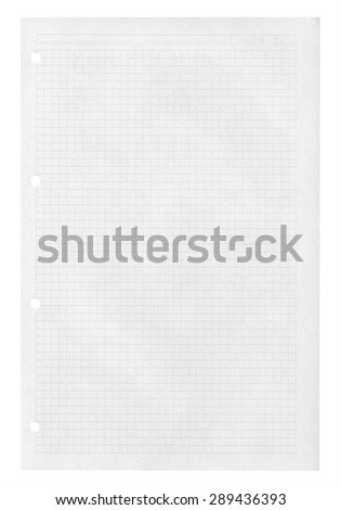 Notepad pages. Isolated on white background. - stock photo