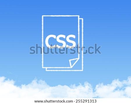 Notepad paper document cloud shape - stock photo