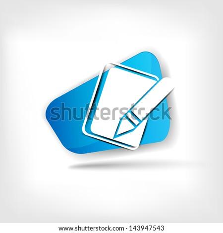 Notepad web icon - stock photo