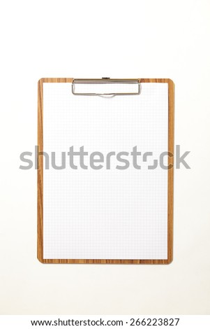 notepad with blank paper - stock photo