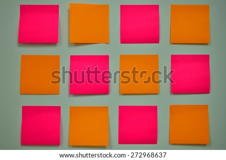 Notepads.The pad of blank or ruled pages for writing notes on. - stock photo