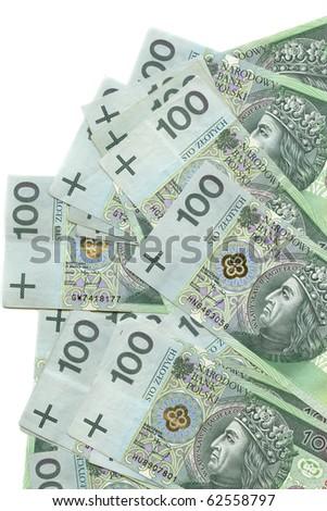 Notes 100 - Polish Money - stock photo
