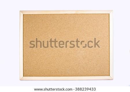 Notice board isolated - stock photo