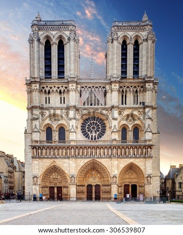 Notre Dame Cathedral - Paris - stock photo