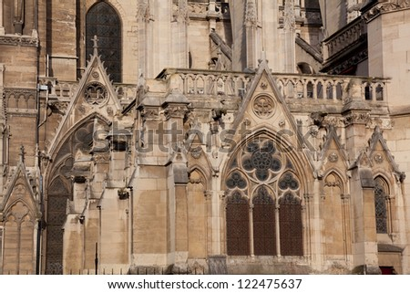Notre dame cathedral, Paris, France - stock photo