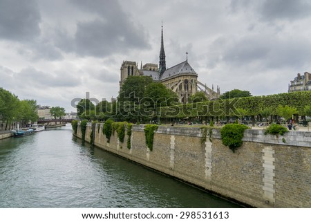 Notre Dame cathedral Paris, France - stock photo