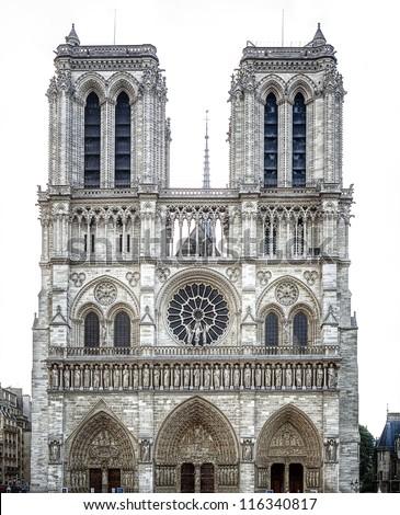 Notre Dame de Paris Cathedral - stock photo