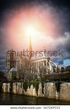 Notre Dame de Paris Cathedral, France - stock photo