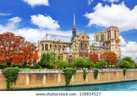 Notre Dame de Paris Cathedral.Paris. France - stock photo