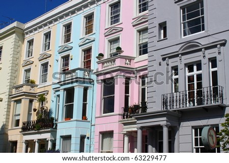 Notting Hill houses - stock photo