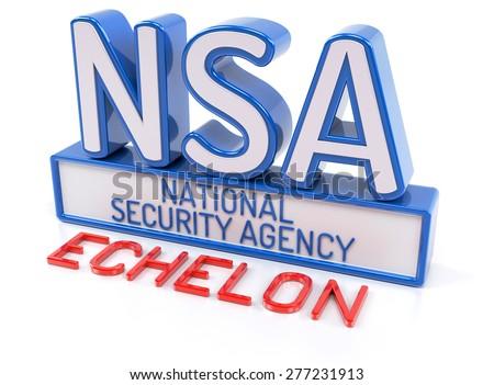 NSA ECHELON - National Security Agency - stock photo