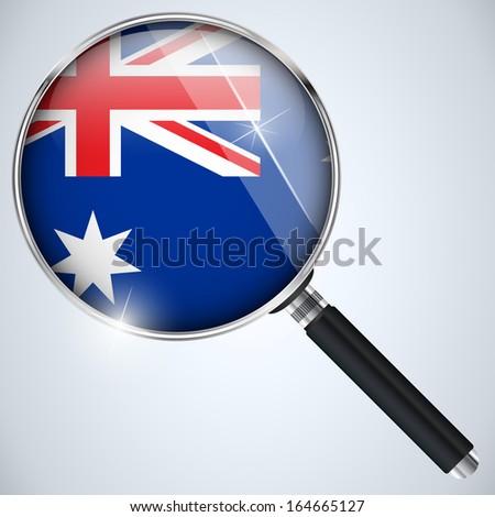 NSA USA Government Spy Program Country Australia - stock photo