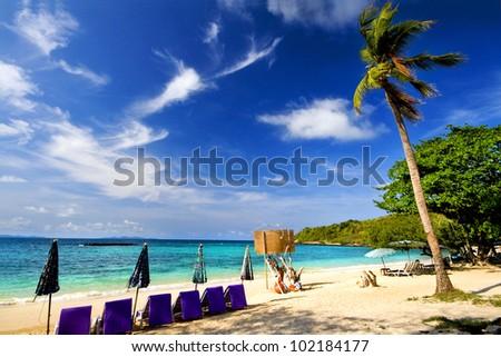 Nual beach, Lan Island. Pattaya, Thailand - stock photo