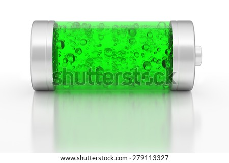 Nuclear battery concept, 3D render - stock photo