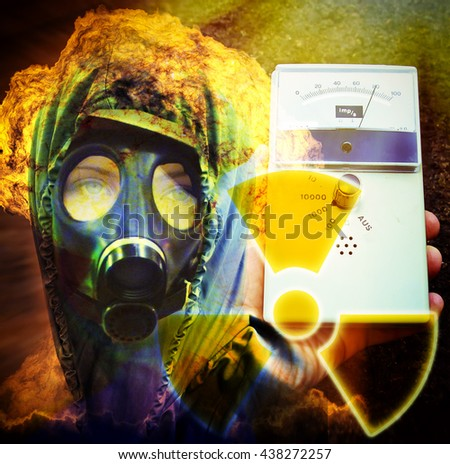 Nuclear danger - stock photo