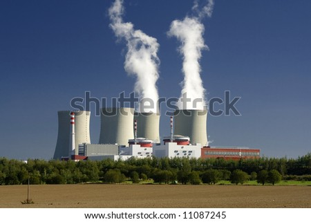 nuclear plant - stock photo