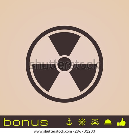 nuclear power icon - stock photo