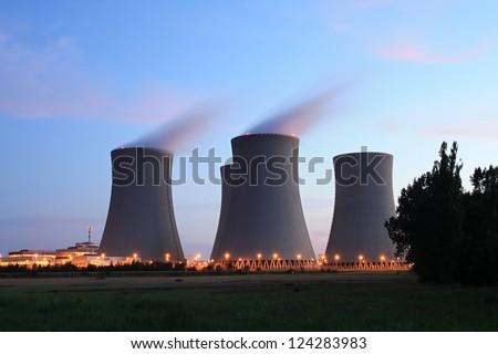 Nuclear power plant Temelin - stock photo