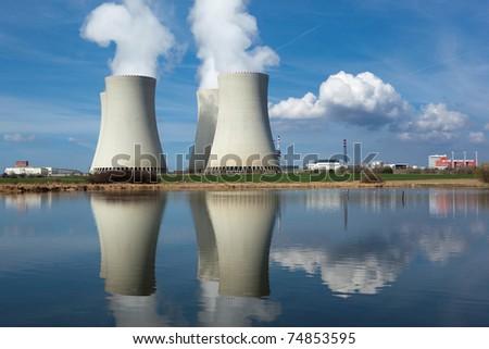 Nuclear power plant Temelin, Czech republic - stock photo