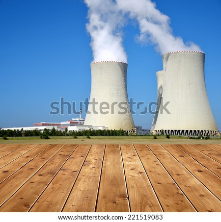 Nuclear power plant Temelin in Czech Republic , Europe  - stock photo