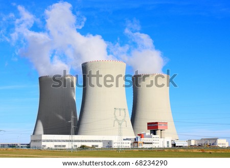 Nuclear power plant Temelin in Czech Republic, Europe. - stock photo