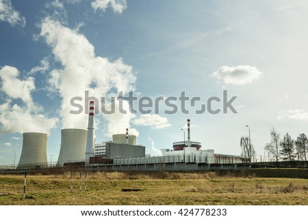 Nuclear power plant Temelin in the Czech Republic  - stock photo