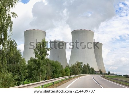Nuclear power plant Temelin in the Czech Republic in Europe - stock photo