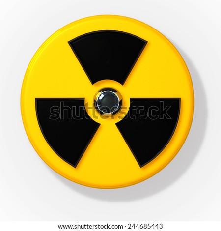 Nuclear radioactive radiation sign  - stock photo