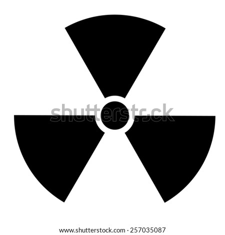 Nuclear sign. illustration - stock photo
