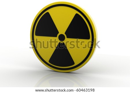 Nuclear Sign isolated on white background - stock photo