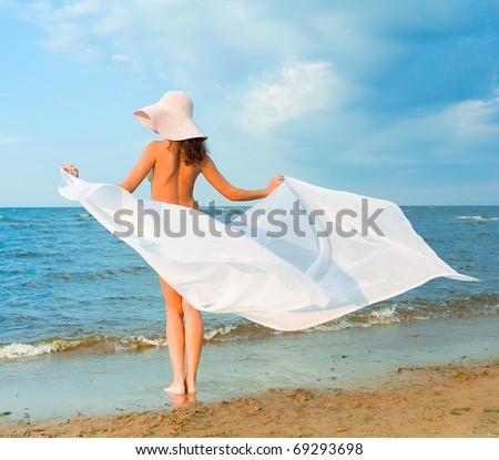 Nude Beach Wings - stock photo