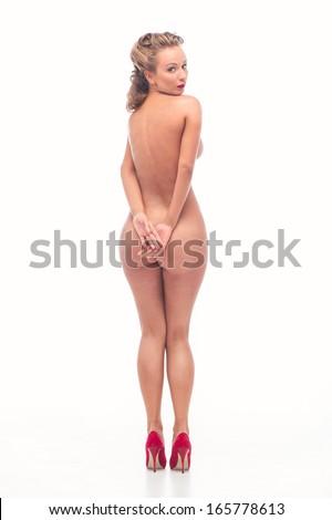 Nude sexy woman - stock photo