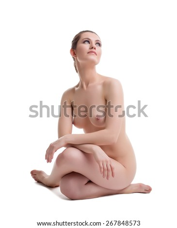 Nude woman. Concept of body care and cosmetology - stock photo