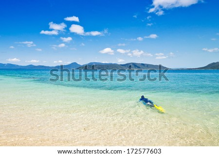 nudey beach, Fitzroy island, Queensland, Australia - stock photo