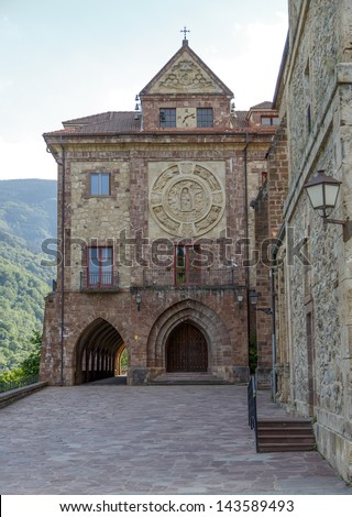 Nuestra Senora de Valvanera Monastery, Valvanera Monastery of Our Lady has belonged to the Benedictines, La Rioja, Spain - stock photo