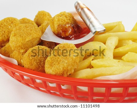 Nuggets & Fries - stock photo