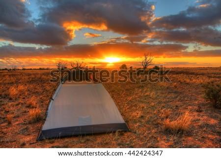 Nullarbor Plain, Australia - stock photo