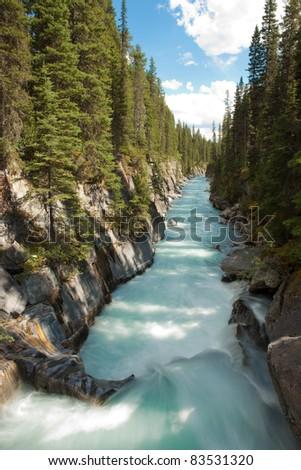 Numa Falls at Kootenay National Park, British Columbia, Canada - stock photo