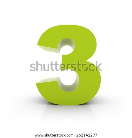 number 3 - stock photo