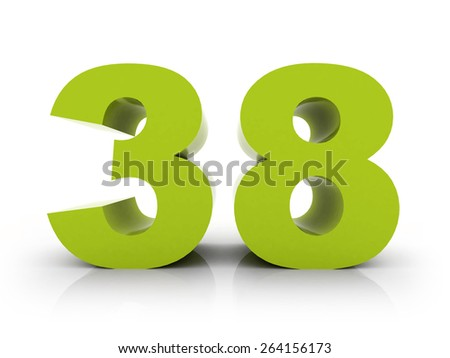 number 38 - stock photo