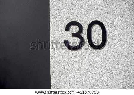 Number 30 - stock photo