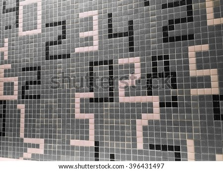 number background - stock photo
