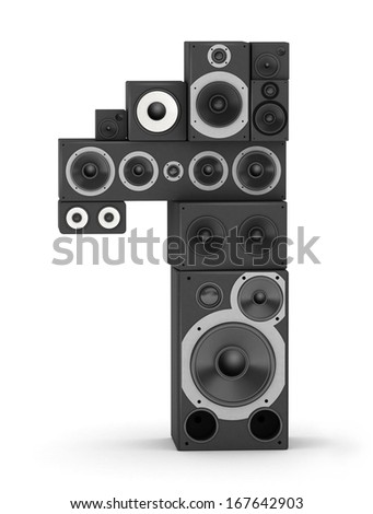Number 1 from black woods hi-fi speakers sound systems - stock photo