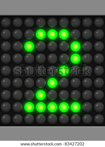 Number 2 from green creeping line alphabet - stock photo