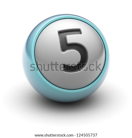 number 5  Full collection of icons like that is in my portfolio - stock photo