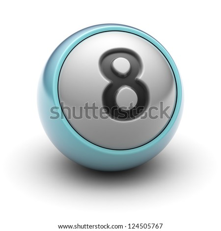 number 8  Full collection of icons like that is in my portfolio - stock photo