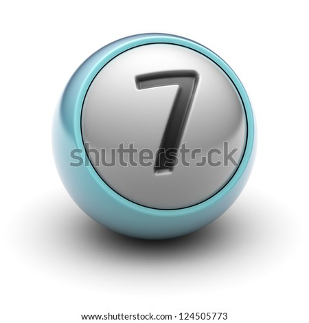 number 7  Full collection of icons like that is in my portfolio - stock photo