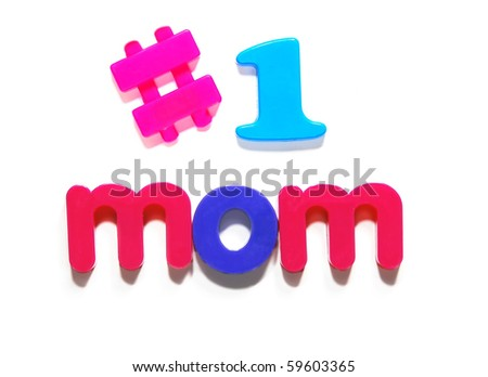 number one Mom - stock photo