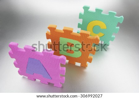 Number Puzzle - stock photo